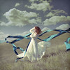 Where the Wind Takes Me (Veronica_Garcia1) Tags: blue storm beautiful clouds vintage movement chaos purple wind floating levitation windy fabric hillside float timeless texturebylesbrumes