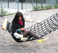 swing low, sweet chariot (Lisa/Anders - Ninja Transvestit Danmark) Tags: public outside tgirl tranny transvestite heels trans nylon ladyboy tgirls