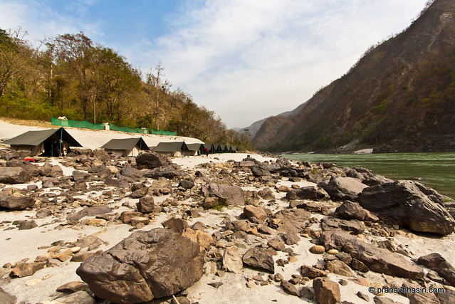 Camping On The Banks Of Ganges