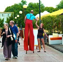 Dancing at the docks (pedrosimoes7) Tags: street people portugal smile walking dance funny dancing lisbon candid creativecommons alcantara dancingdays flickrduel dança handsgestures scenesfromthestreetsnapshot
