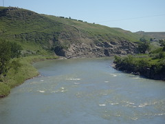 Southern Alberta Rivers (Mr. Happy Face - Peace :)) Tags: morning sky sun canada clouds am h2o alberta mrhappyface