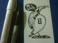 Qwik! Logan 6! (Qwik6!) Tags: sketch character cartoon sketchbook xmen marker sharpie logan six indexcard qwik