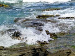 *** (elisevna) Tags: sea water rocks sardinia stones foam