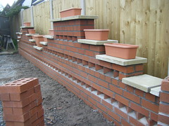 West Wall 1 - 6 (Alex and Andy Main) Tags: building andy garden photography shropshire main bricks telford patio walls bricklaying andymainphotography