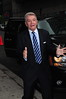 Tom Dreesen Celebrities arrive at The Ed Sullivan Theater for 'The Late Show with David Letterman' New York City, USA