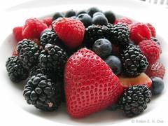 Berries! (Robin E. H. Ove) Tags: fruit berries strawberries blackberries blueberries