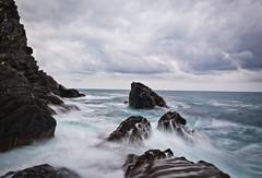 Mediterranean Coast - Manarola (jp3g) Tags: ocean longexposure sea water panasonic nd cinqueterre g3 med manarola