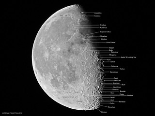 Waning Gibbous Moon (Labeled)  - May 11, 2012