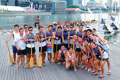 DBS Marina Regetta - Dragon Boat Race (Alphone Tea) Tags: life city blue light sunset red portrait people favorite black color building art wet water beautiful smile sport composition contrast canon pose print happy photography daylight boat photo amazing jumping model singapore asia bright image modeling outdoor great group models perspective young explore shooting capture dragonboat staring 2012 watersport 1755 handhold marinabay 60d