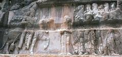 1976.05-40b تنگ چوگان Tang-i-Chogan Sasanian Relief (Bishapur IV) of Bahram II (276-294 A.D.), detail, 1976. (jddorren08) Tags: iran persia rockface 35mmfilm romanempire basrelief fars valerian canonftb bahram rockrelief ancientcivilisation gordian kazerun shapur bishapur ahuramazda shahpur philipthearab ancientiran tangechogan شاپور daviddorren canon20mmlens تنگچوگان ایران shahpurriver tangichogan sasanianreliefs sassanianreliefs کازرون shapurriver zoroastrianreligion