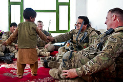 Making friends (The U.S. Army) Tags: afghanistan ghazni