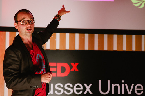 Peter Barden speaking at TEDxSussexUniversity 2012