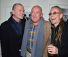 Gavin Friday, Ciaran Owens, Guggi U2 Manager Paul McGuinness officially opened the photography exhibition U2:1978