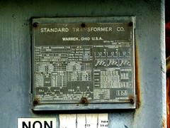 Multi-voltage nameplate (en tee gee) Tags: newyork transformer substation 13kv 4kv 345kv 69kv
