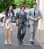 Stephan Hunt, wife, Stephan Ward The wedding of Irish footballer Glenn Whelan to Karen Byrne held at St. Philomena's Church in Palmerstown Dublin, Ireland