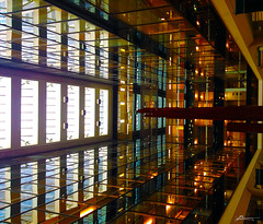 interior (paul bica) Tags: park toronto canada college st architecture reflections paul lights 22 view interior perspective may unusual yonge dex 4s 2012 iphone bica downtoun dexxus img0503d