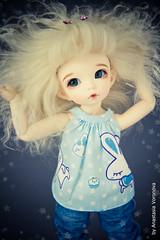 I wanna be a star! (Anastasia Voronova) Tags: eve blue light art canon ball hair photography photo doll skin clothes blond tiny mohair lf bjd fl normal fairyland ante jointed ballj