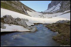 Melting Snow (pap-x) Tags: summer mountain green nature clouds creek canon landscape spring peak greece gamila 550d papigo tymfi dragonalke