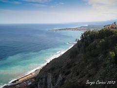 Taormina - Panorama (farsergio) Tags: travel sea italy panorama landscape europa europe italia mare sicily taormina viaggio vacanza sicilia messina farsergio ixus980is