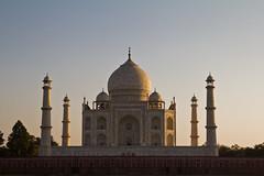 Taj Mahal au coucher du soleil