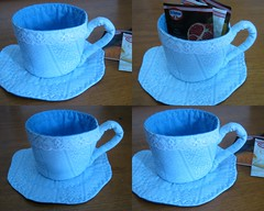 Xícara porta chá (Zion Artes por Silvana Dias) Tags: patchwork cozinha xícara chá portachá xícaradetecido xícarapatchwork zionartes