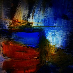 blue light shadow red orange brown abstract color colour... (Photo: Мaistora on Flickr)