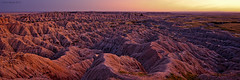Rough Beauty (Dan Mihai) Tags: sunset panorama nature beauty southdakota landscape ferrets nationalpark spires eerie panoramic canyon deer erosion antelope prairiedogs badlands prairie rough wilderness bison fossils pinnacles howling badlandsnationalpark bighornsheep eroded buttes coyotes blackfootedferrets