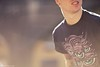 AnyForty — Australian Invasion — Travis Price (Rick Nunn) Tags: blue portrait london illustration eyes dof teeth australian rick naturallight flare nunn invasion brutal grrrr earing canonef135mmf2l travisprice tworld anyforty