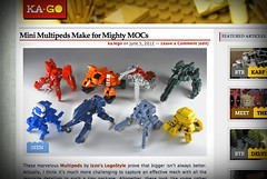 Brick Something: Mini Multipeds Make for Mighty MOCs (ka.lego) Tags: anime color design miniature manga mini micro shape mecha mech multiped microscale