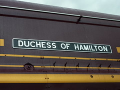 """Duchess of Hamilton"" No. 6229 nameplate 