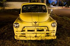 '54 Dodge Truck (Curtis Gregory Perry) Tags: old b classic yellow night oregon truck vintage noche long nacht shell 1954 nat gas burns noite dodge series gasoline job nuit 54 notte nos natt malam noc ntt   nag gece noapte   rated  b1b no m  expsoure  nakts  oche   gauean