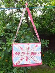 Jubilee messenger bag (HandbagsbyHelen) Tags: pink bag jubilee diaper messenger unionjack hopsack handbagsbyhelen