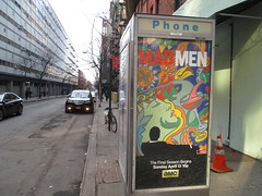 Mad Men mini Billboard Phone Booth AD 6757 (Brechtbug) Tags: street new york city nyc men film television booth movie season advertising poster logo tv jon artist phone ad 7 cable mini billboard advertisement final seven don 1960s milton mad amc avenue 9th channel hamm draper 2014 51st glasier 03202014