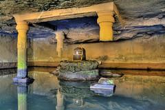 giant Shivalinga @ Kedareshwar cave @ Harishchandragad, Maharashtra, India (smijh) Tags: india ancient village fort historical maharashtra ahmednagar killa cave shiva kada region hdr linga ghat shivaji konkan harishchandragad kokan maharaj kille malshej shivling kedareshwar kothale changdev