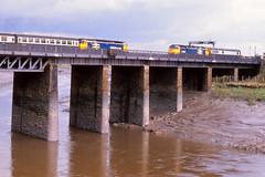 47454, 47439/TDB977466 Newport 22/10/1987 (Glevumblues) Tags: diesel trains newport locomotive railways class47 multipleunit 47454 47439 54286 sandite tdb977466