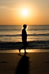 Warm Rising (StoiKNA) Tags: ocean sky orange sun beach sunrise walking nikon warm waves florida westpalmbeach atlantic tamron singerisland 2470mm d7000