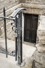 Locked Out (lclower19) Tags: door stone gate massachusetts padlock locked belchertown photochallenge winsordam quabbinres