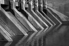 Barton Dam, Ann Arbor, MI, April, 2016 (Norm Powell (napowell30d)) Tags: travel blackandwhite bw architecture landscape landscapes michigan fineart annarbor architectural minimalist bartondam puremichigan