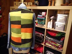 Refashioned Vest (actionhero) Tags: felted vest refashion