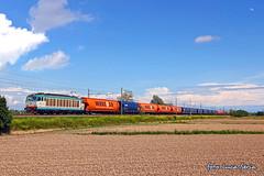 E652 119 + VTG/Wascosa (equo25) Tags: train merci eisenbahn railway zug cargo locomotive treno freight carri trenitalia ferrovia locomotiva cereali vtg e652 tigrone guterzug tramogge wascosa getreidesilowagen