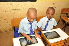 Dynamic Duo? These young boys wasted no time in learning the now online digital content