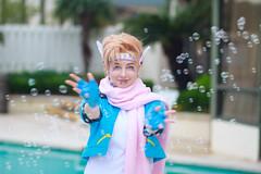 Caesar Zeppeli, Jojo's Bizarre Adventure Cosplay (firecloak) Tags: blue anime hair cosplay bubbles caesar adventure blonde bizarre jojos crossplay zeppeli louisianime