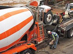 Cement mixer (kathleenmccrary) Tags: cementmixer working heavyequipment
