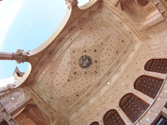 Stone relief and mirrors (claying) Tags: house stone mirror iran olympus ceiling fisheye panasonic relief kashan   em5    tabatabei  lumixgfisheye8mmf35
