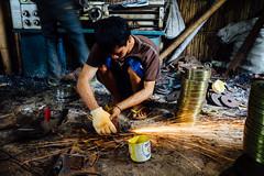 Metal Grinder Making Sparks, Jakarta Indonesia (AdamCohn) Tags: indonesia jakarta metalworkers sparks metalworking metalshop machineshop metalworker metalshavings adamcohn wwwadamcohncom