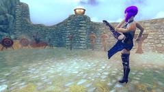 43 (Beth Amphetamines) Tags: wallpaper yard training hair flying high screenshot purple kick body ghost shell armor inthe cyborg synthetic kusanagi companions motoko shanoa vilkas skyrim jorrvaskr