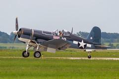 USN Vought F4U-1D Corsair 92399/NX451FG '19' (Hugh Dodson) Tags: saturday ypsilanti corsair 19 usn willowrun vought f4u1d 92399 nx451fg thunderovermichigan2015