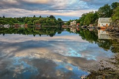 Ryksund, Norway (Vest der ute) Tags: houses sea seascape norway clouds reflections landscape mirror rogaland fav25 g7x ryksund