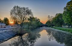 Sunrise over the Canal (kendoman26) Tags: sunrise nikon tokina sunburst hdr towpath imcanal enjoyillinois iandmcanal nikond3300 travelillinois imcanaliandmcanal tokina1228 nikhdrefexpro2 tokinaatx1228prodx