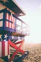 Miami Beach (fgazioli) Tags: travel sky usa praia beach nature water colors casa florida miami natureza lifeguard eua miamibeach ceu vsco bestplacestogo